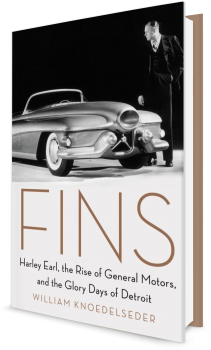 Book cover image: Fins Harley Earl, the Rise of General Motors, and the Glory Days of Detroit
