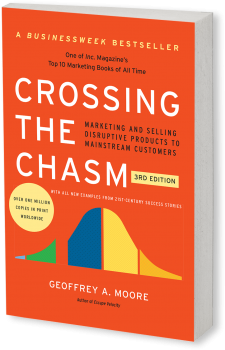 Book cover image: Crossing the Chasm, 3rd Edition: Marketing and Selling Disruptive Products to Mainstream Customers   BusinessWeek Bestseller