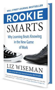 Book cover image: Rookie Smarts: Why Learning Beats Knowing in the New Game of Work | Wall Street Journal Bestseller