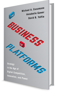 Book cover image: The Business of Platforms: Strategy in the Age of Digital Competition, Innovation, and Power